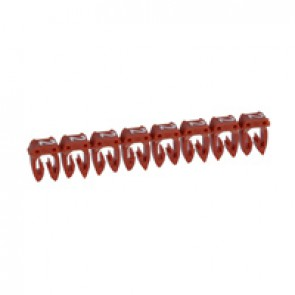 Marker CAB 3 - for wiring 0.5 to 1.5 mm² - number 2 - red