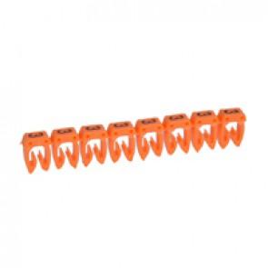 Marker CAB 3 - for wiring 0.5 to 1.5 mm² - number 3 - orange