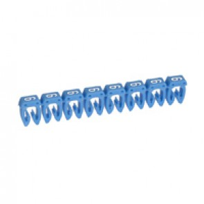 Marker CAB 3 - for wiring 0.5 to 1.5 mm² - number 6 - blue