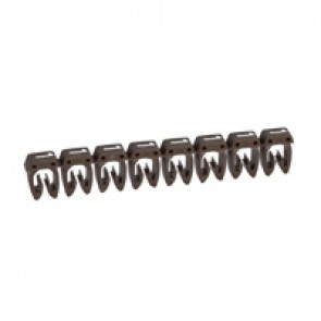 Marker CAB 3 - for wiring 1.5 to 2.5 mm² - number 1 - brown