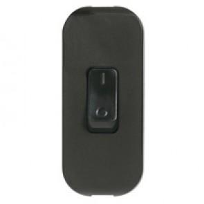 Cord switch - 2P - 2 A 250 V~ - coloured - black