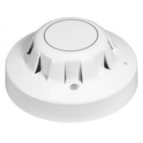Optical smoke detector - for fire alarm panel - supplied with base
