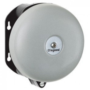 Bell - for industrial and alarm use - IP44 - IK10 - 110/130 V~ - Ø150 mm gong