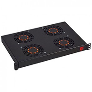 "19"" ventilation shelf - 1 U - for encloures - with 4 fans - depth 300 mm"