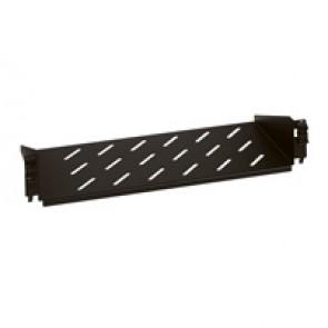 Fixed shelf - 2 U - for enclosures - depth 200 mm - quick fixing