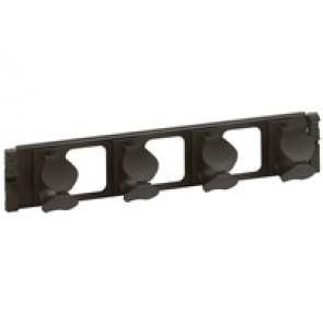 19'' management panel - 2 U - metal 2 axes - quick fixing