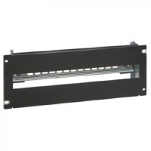 DIN profile rail with front panel - 24 modules - Black RAL 9005