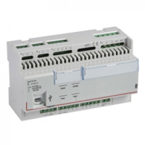Bacnet room controller unit with 8 inputs and 10 outputs for hotel room management - 8 DIN modules