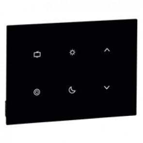 Scenario controller 6-scene activation user interface hotel equipment BUS - black
