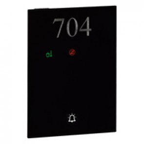 DO NOT DISTURB – MAKE UP ROOM external indicator and bell push-button user interface hotel equipment BUS - black