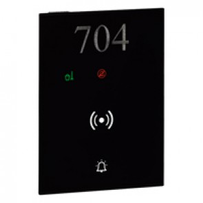 DO NOT DISTURB – MAKE UP ROOM external indicator, bell push-button, badge reader user interface hotel equipment BUS