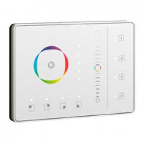 Color touch lighting dimmer Mosaic - 1 to 4 areas - white - supplied complete