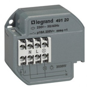 Single pole latching relay - silent - 10 A - surface-mounting