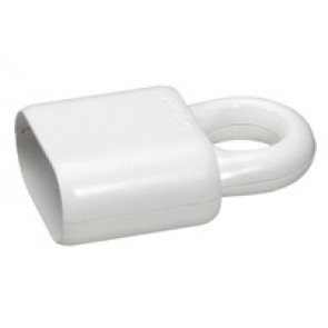2P extension - 6 A - plastic with extraction ring - white - gencod labelling