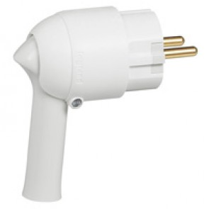 2P+E plug - 16 A - Fr/German standard - easy extraction - white - gencod labelling