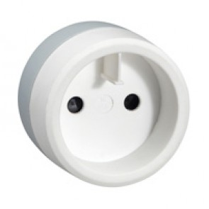 European to US standard adaptor - 2P - with safety shutters - white