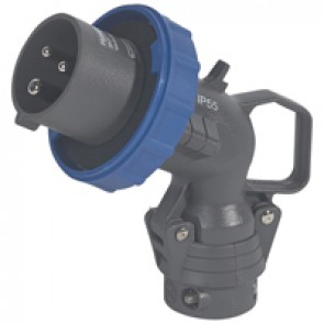 Angled plug Hypra - IP66/67-55 - 16 A - 200/250 V~ - 2P+E - plastic