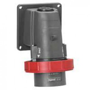 Surface appliance inlet Hypra - IP66/67-55 - 380/415 V~ - 16 A - 3P+E - plastic