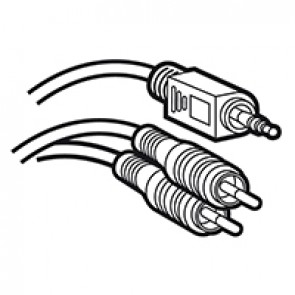 Jack 3.5 mm male to 2 RCA male Y cord - Length 2 m