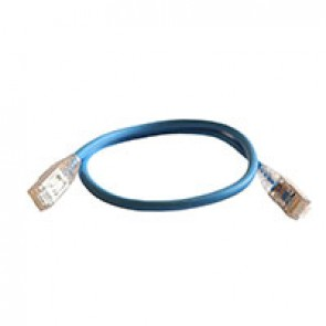Patch cord RJ45/RJ45 High Density category 6 screened F/UTP - LSZH blue - 0,5m