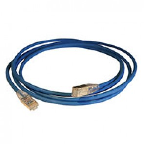 Patch cord RJ45/RJ45 High Density category 6 screened F/UTP - LSZH blue - 2m