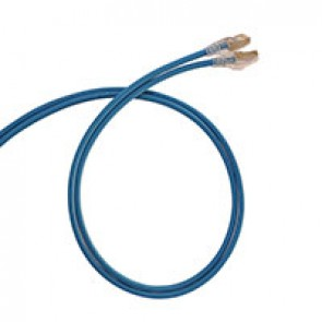 Patch cord RJ45/RJ45 High Density category 6 screened F/UTP - LSZH blue - 3m