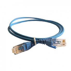 Patch cord RJ45/RJ45 High Density category 6 unscreened U/UTP - LSZH blue - 1m