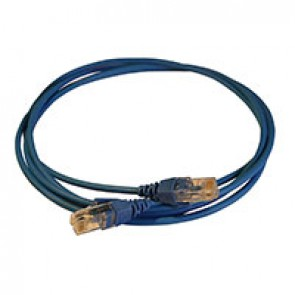 Patch cord RJ45/RJ45 High Density category 6 unscreened U/UTP - LSZH blue - 2m
