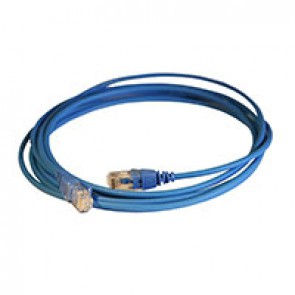 Patch cord RJ45/RJ45 High Density category 6 unscreened U/UTP - LSZH blue - 3m