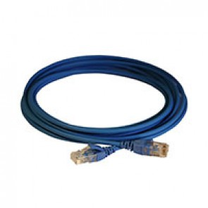 Patch cord RJ45/RJ45 High Density category 6 unscreened U/UTP - LSZH blue - 5m