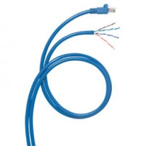 Cord for area distribution box - Cat.6 - RJ 45/stripped - F/UTP screened - 8 m