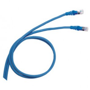 Patch cord/user cord RJ 45 - Cat.6 - F/UTP screened - PVC - 1 m