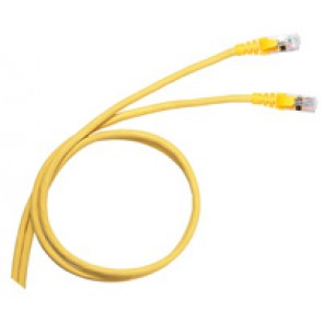 Patch cord category 6 A - S/FTP shielded - PVC - length 1 m - yellow