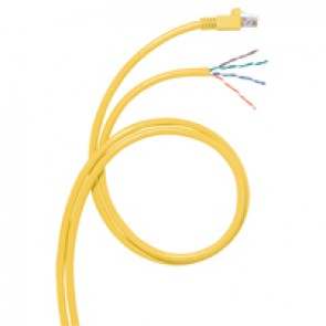 Cord for area distribution box - Cat.6 A - RJ 45/stripped - S/FTP unscreened- 8 m