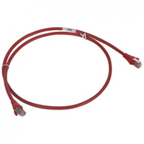 Patch cord/user cord RJ 45 - Cat.6 - F/UTP screened - LSZH red - 1 m