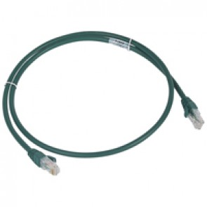 Patch cord category 6 A - U/UTP unscreened - LSZH - length 1 m - green