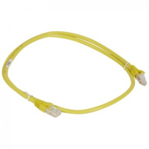 Patch cord category 6 A - U/UTP unscreened - PVC - length 1 m - yellow