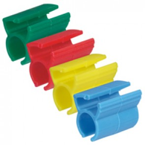 Kit of 200 coloured rings for marking RJ 45 cords - to be clipped to the patch cords