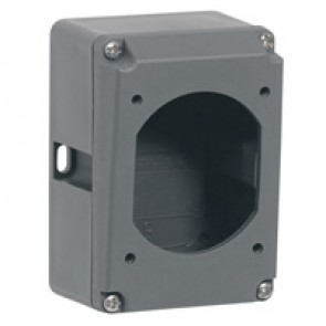 Box Hypra - IP44/66/67-55 - for surface mounting socket - 16 A - plastic