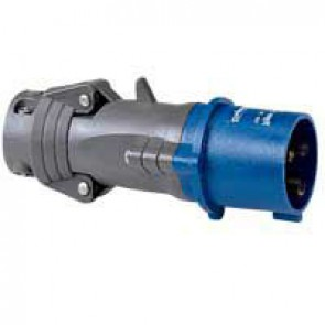 Straight plug Hypra - IP44 - 200/250 V~ - 32 A - 2P+E - plastic