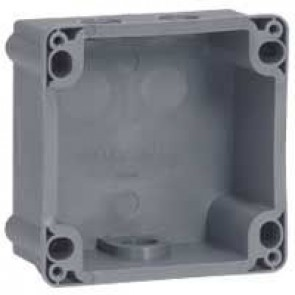 Box Hypra - IP44 - for Prisinter surface mounting socket 2P+E/3P+E 16 A - plastic