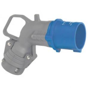 Angled plug Hypra - IP44 - 200/250 V~ - 16 A - 2P+E - plastic