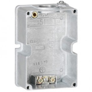 Box Hypra - IP44 - for surface appliance inlet 16 A - 2P+E - metal