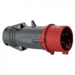 Straight plug Hypra - IP44 - 380/415 V~ - 32 A - 3P+E - plastic
