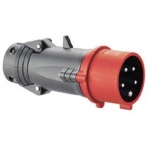 Straight plug Hypra - IP44 - 380/415 V~ - 16 A - 3P+N+E - plastic