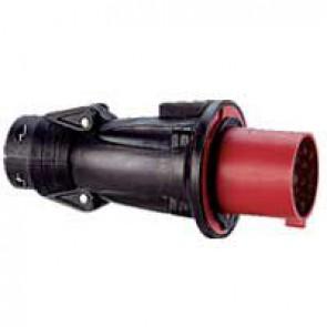 Fiche droite Hypra - IP44 - 16 A - 380/415 V~ - 3P+T - caoutchouc