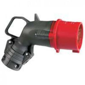 Angled plug Hypra - IP44 - 380/415 V~ - 32 A - 3P+E - plastic