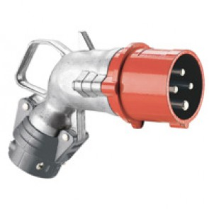 Angled plug Hypra - IP44 - 380/415 V~ - 16 A - 3P+E - metal