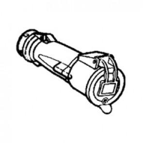 Mobile socket Hypra - IP44 - 20/25 V~ - 16 A - 2P - rubber