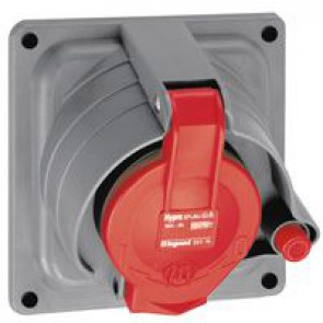 Panel mounting socket Prisinter Hypra - IP44 -380/415 V~ - 32 A - 3P+E - plastic